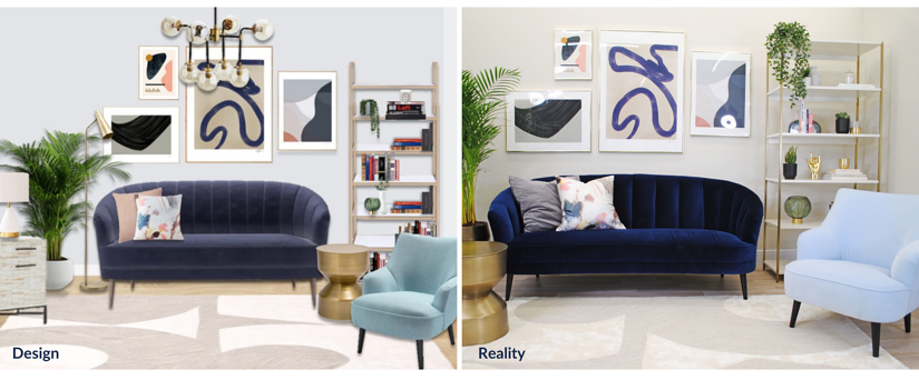before and after design and reality photo