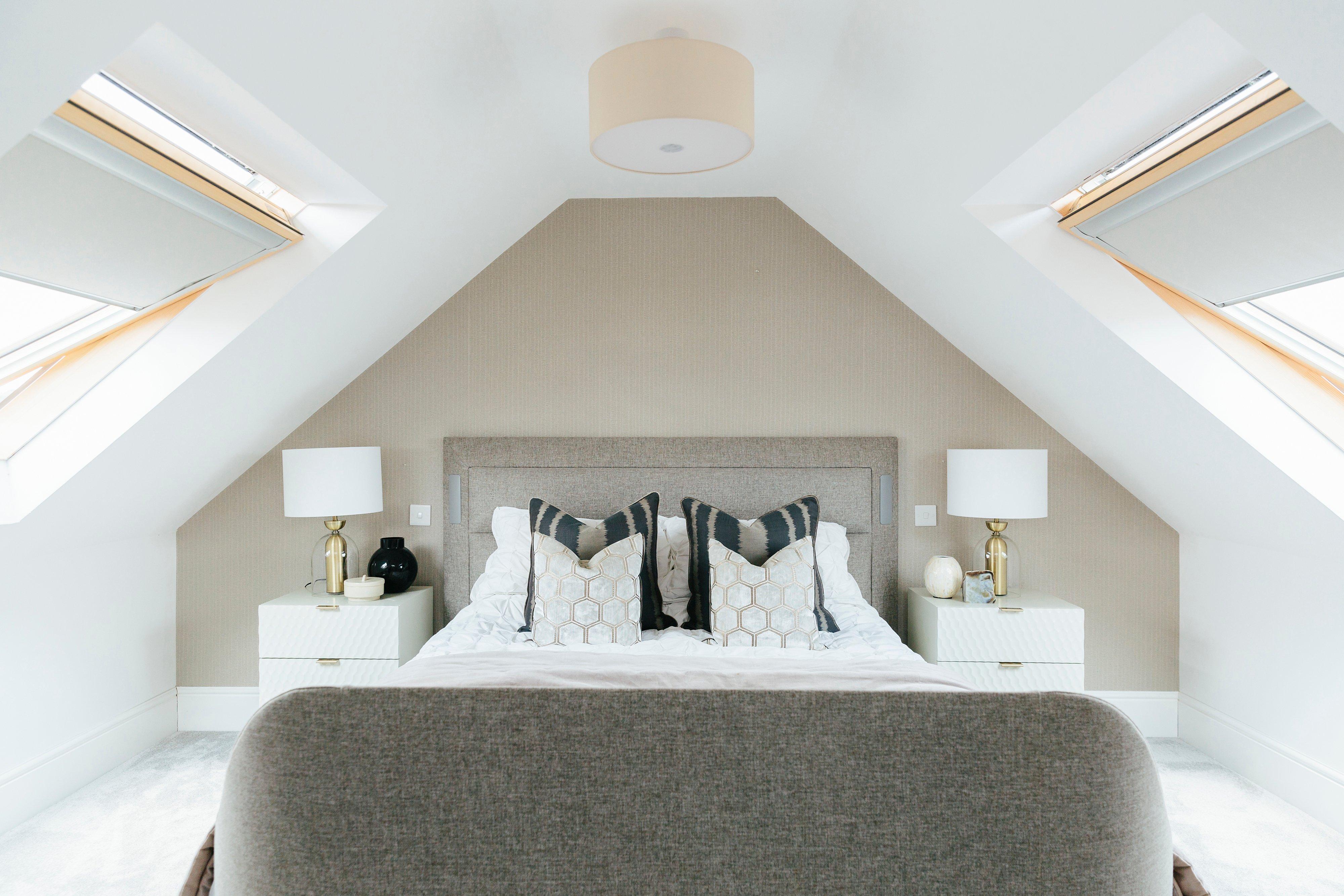 master bedroom in loft conversion