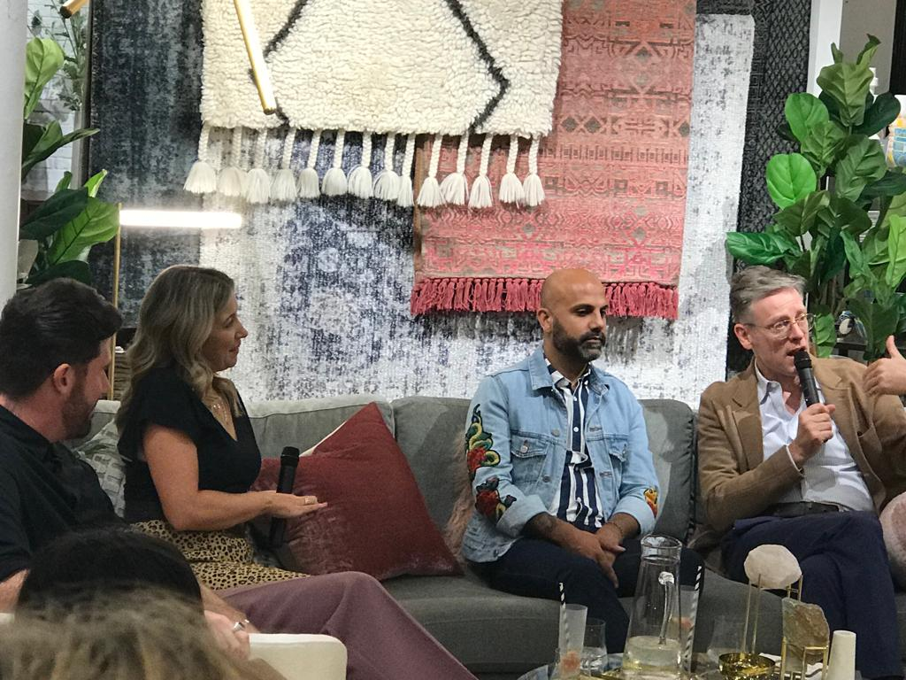 Ben Hanley, Lucy Henderson, Bhavin Taylor and Daniel Hopwood at West Elm's Tottenham Court Road store