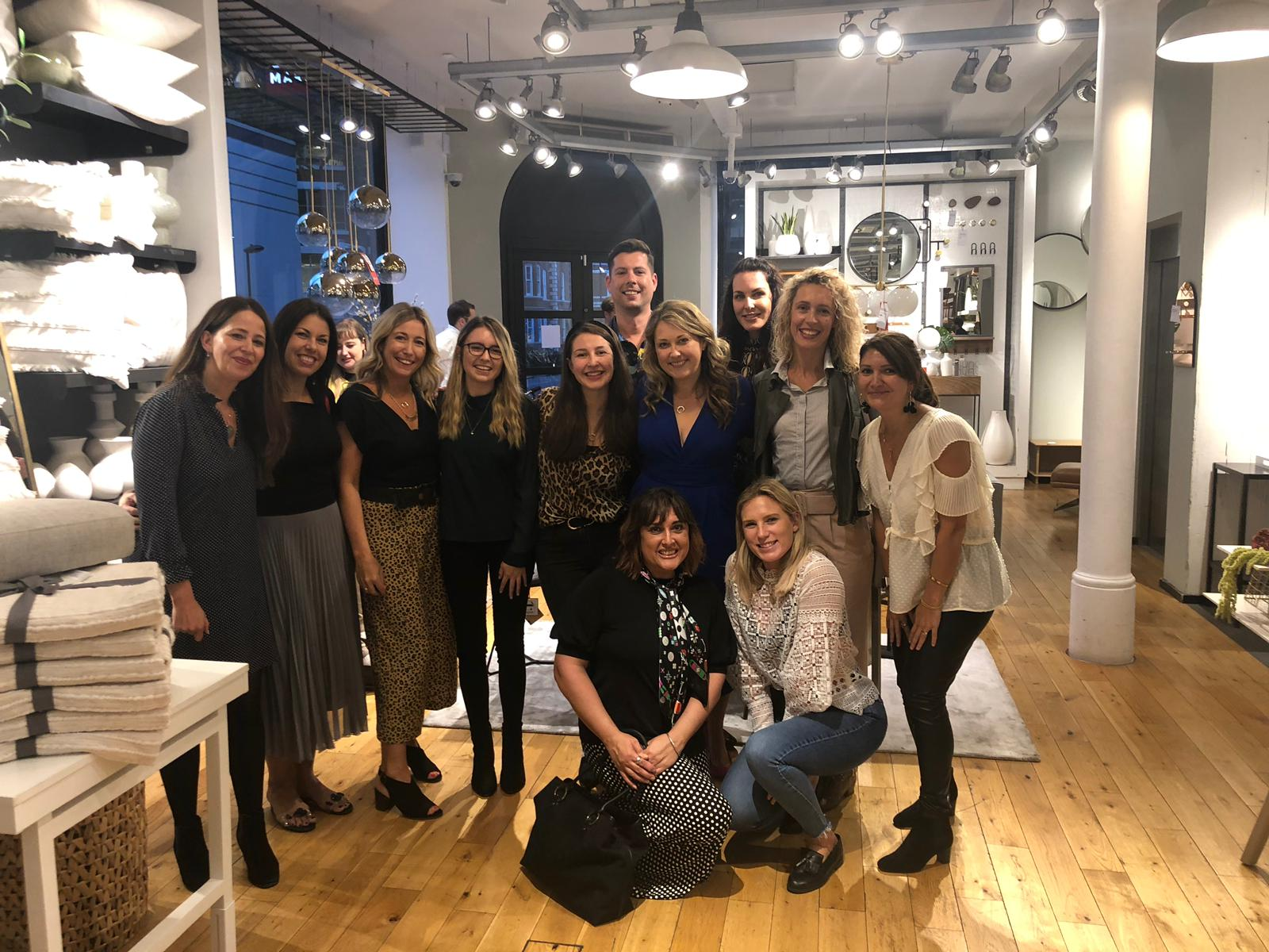the my bespoke room team at west elm sustainability event on tottenham court road
