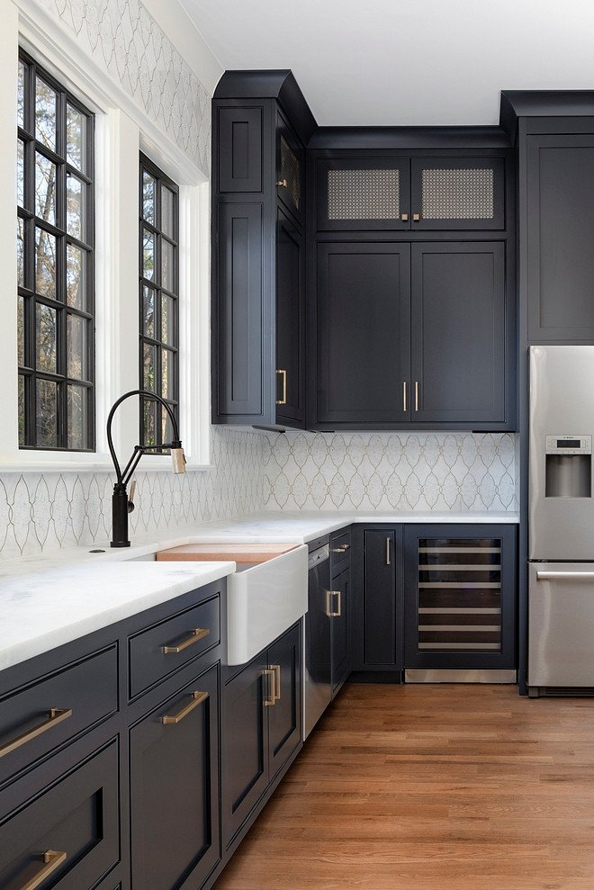 Benjamin-Moore-Soot-Dark-Kitchen-Cabinet-Paint-Color