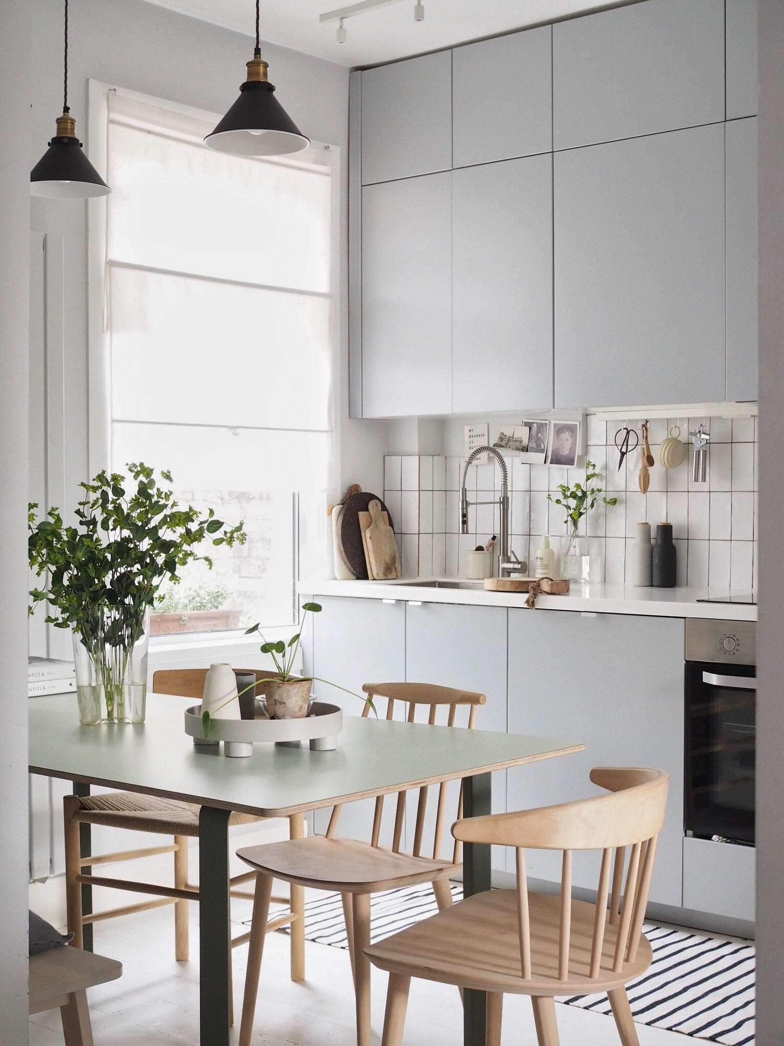 small kitchen and dining room ikea hack