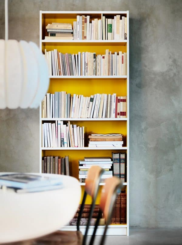 Ikea-Billy-Bookcase-Yellow-Interior-Hack