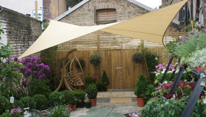 design ideas for garden entertaining garden sail