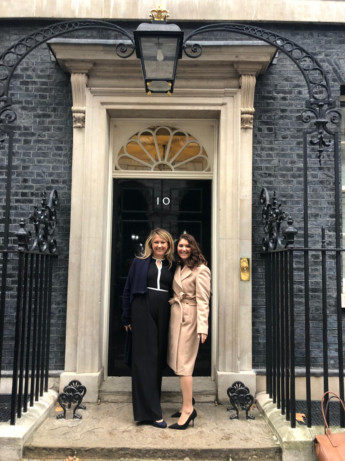 Laura and Diana outside No.10