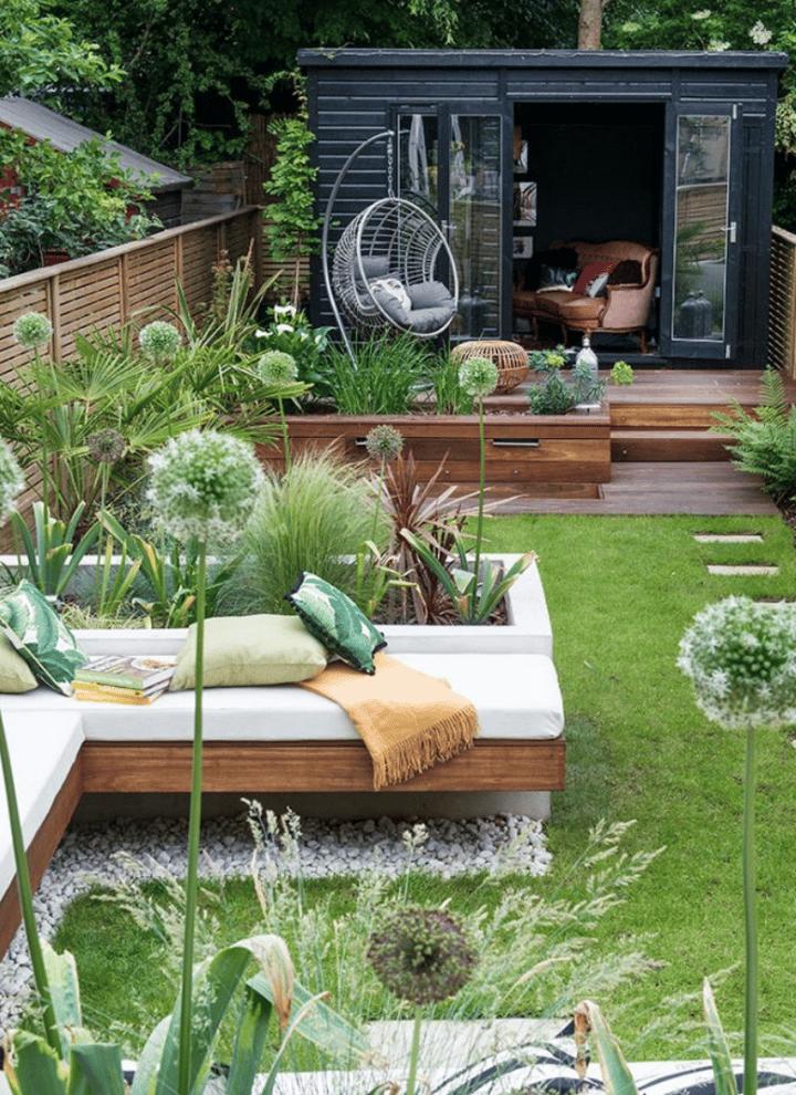 design ideas for garden entertaining different zones