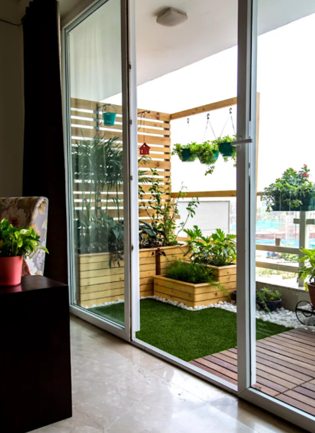 artificial grass on balcony