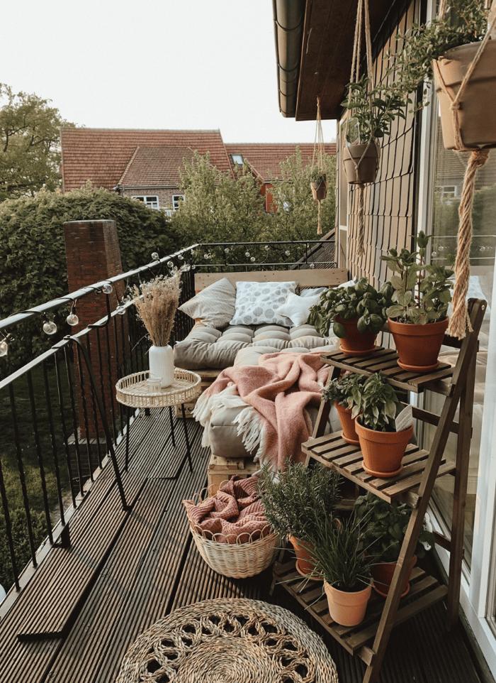 herb garden balcony design ideas