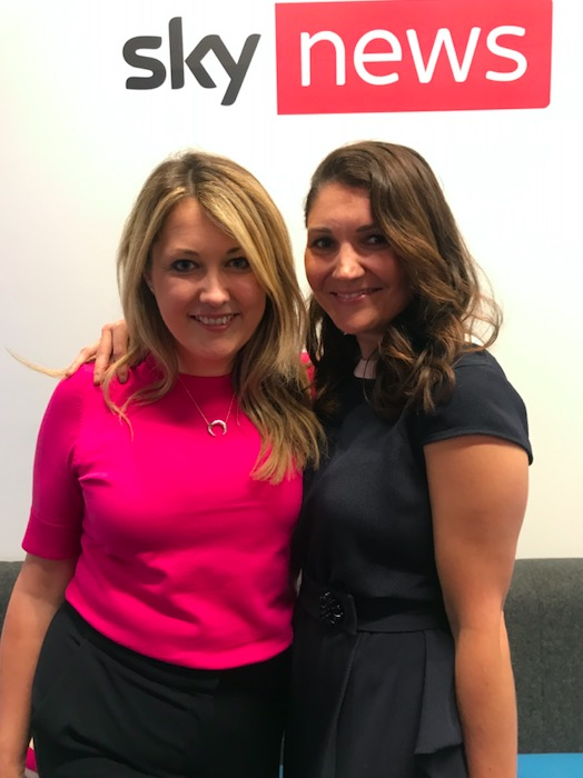 Laura and Diana, My Bespoke Room at sky news on international women's day