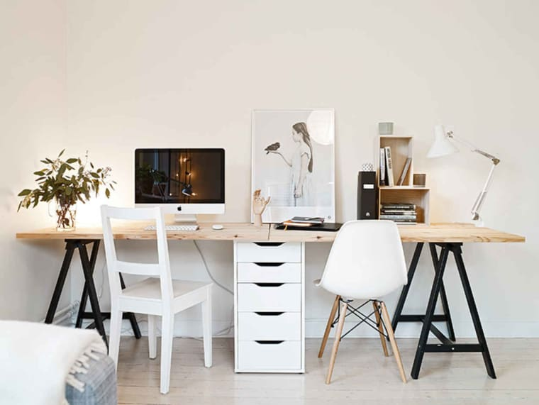 linnmon Lerberg ikea hack double desk
