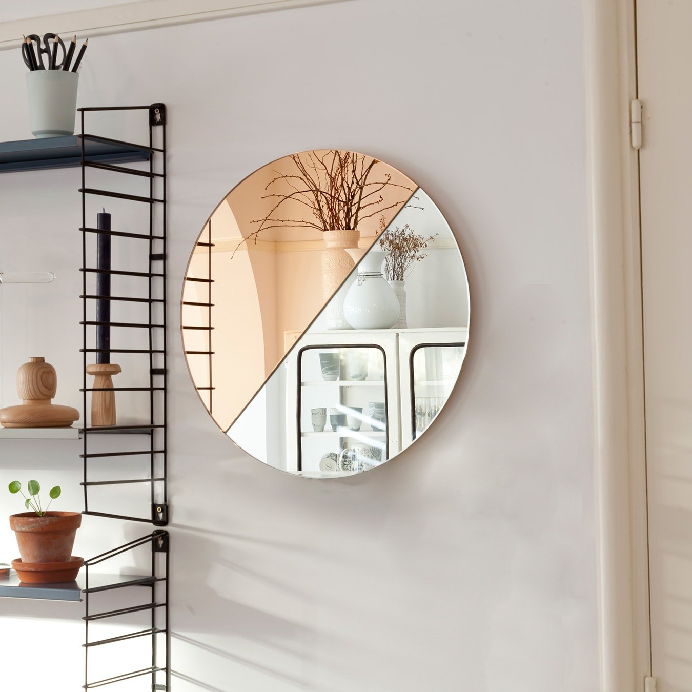 circular coloured mirror