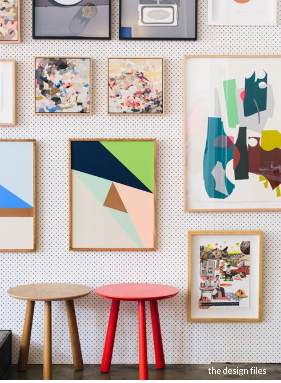 ikea pegboard hack gallery wall